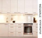 detail of fancy kitchen interior | Shutterstock . vector #376005286