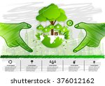ecology concept. save world... | Shutterstock .eps vector #376012162