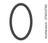 black chain oval frame | Shutterstock . vector #376013782