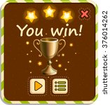 you win  vector design for app... | Shutterstock .eps vector #376014262