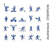 pencil shape popular sports... | Shutterstock . vector #376049146