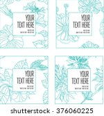 vector set of natural frame... | Shutterstock .eps vector #376060225
