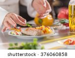 closeup on the hands of a chef... | Shutterstock . vector #376060858