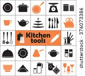 set of kitchen tools... | Shutterstock .eps vector #376073386
