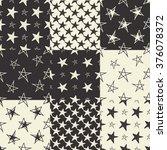 set of hand drawn stars... | Shutterstock .eps vector #376078372