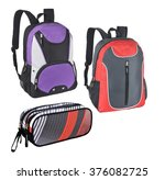 many backpack   back to school... | Shutterstock . vector #376082725