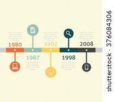 timeline vector graphic  | Shutterstock .eps vector #376084306