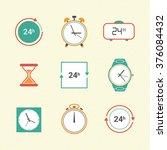 time vector pictograms    Shutterstock .eps vector #376084432