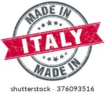 made in italy red round vintage ... | Shutterstock .eps vector #376093516