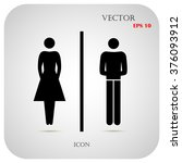 vector man and woman icons ... | Shutterstock .eps vector #376093912