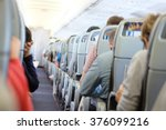 passengers are sitting and... | Shutterstock . vector #376099216