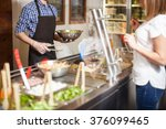 closeup of a young man working... | Shutterstock . vector #376099465