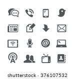 telecommunications icons   ... | Shutterstock .eps vector #376107532