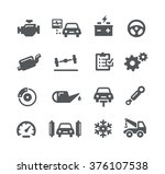 car service icons    utility... | Shutterstock .eps vector #376107538