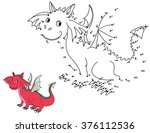 numbers game for children. cute ... | Shutterstock .eps vector #376112536