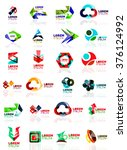 logo set  abstract geometric... | Shutterstock .eps vector #376124992