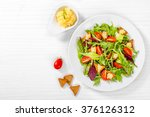 fresh salad of cherry tomatoes... | Shutterstock . vector #376126312