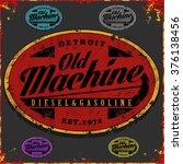 rustic old tee graphic | Shutterstock .eps vector #376138456