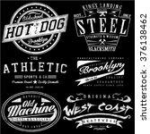 vintage tee graphics set | Shutterstock .eps vector #376138462