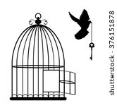 Vector Illustration Of A Bird...