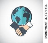 semi flat icon handshake.... | Shutterstock .eps vector #376171516