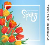 spring illustration with red... | Shutterstock .eps vector #376172662