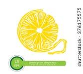 citrus  slice  vector... | Shutterstock .eps vector #376175575