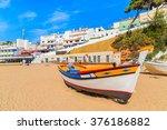 Fishing Boat On Beach In...