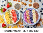 blueberries and strawberries... | Shutterstock . vector #376189132