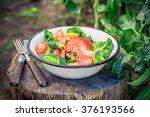 Colorful Vegetarian Salad In...