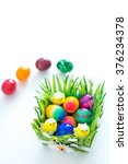 easter eggs in basket | Shutterstock . vector #376234378
