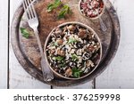 salad of white and wild rice... | Shutterstock . vector #376259998