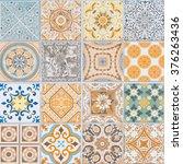 ceramic tiles patterns  | Shutterstock . vector #376263436
