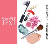 brush and cosmetic promotion... | Shutterstock . vector #376267546
