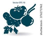 flat vegetables icon | Shutterstock .eps vector #376271962