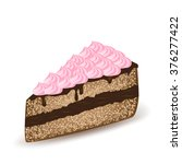 piece of cake | Shutterstock .eps vector #376277422