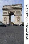 arc de triomphe  famous tourist ... | Shutterstock . vector #376300576