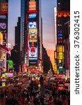 new york city   january 4 ... | Shutterstock . vector #376302415