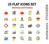 business and finance icons set... | Shutterstock .eps vector #376316806