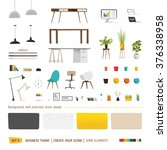 some office furniture. create... | Shutterstock .eps vector #376338958