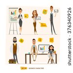 business characters set .group... | Shutterstock .eps vector #376340926