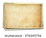 old photo frame on white... | Shutterstock . vector #376345756