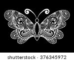 artistic pattern with butterfly....   Shutterstock .eps vector #376345972