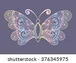 artistic pattern with butterfly....   Shutterstock .eps vector #376345975