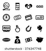 lottery icons | Shutterstock .eps vector #376347748