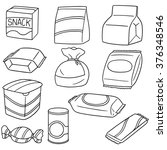 vector set of snack | Shutterstock .eps vector #376348546