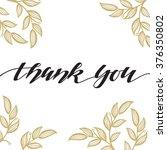 thank you vector hand written... | Shutterstock .eps vector #376350802