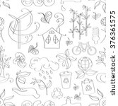 doodle pattern ecology | Shutterstock .eps vector #376361575