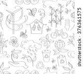 doodle pattern ecology | Shutterstock .eps vector #376361575