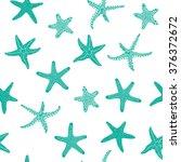 starfishes pattern | Shutterstock .eps vector #376372672